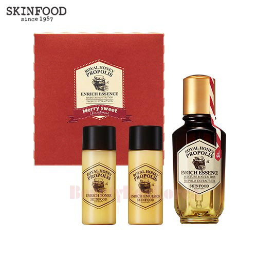SKINFOOD Royal Honeypropolis Enrich Essence Set 3items [Holiday Edition]